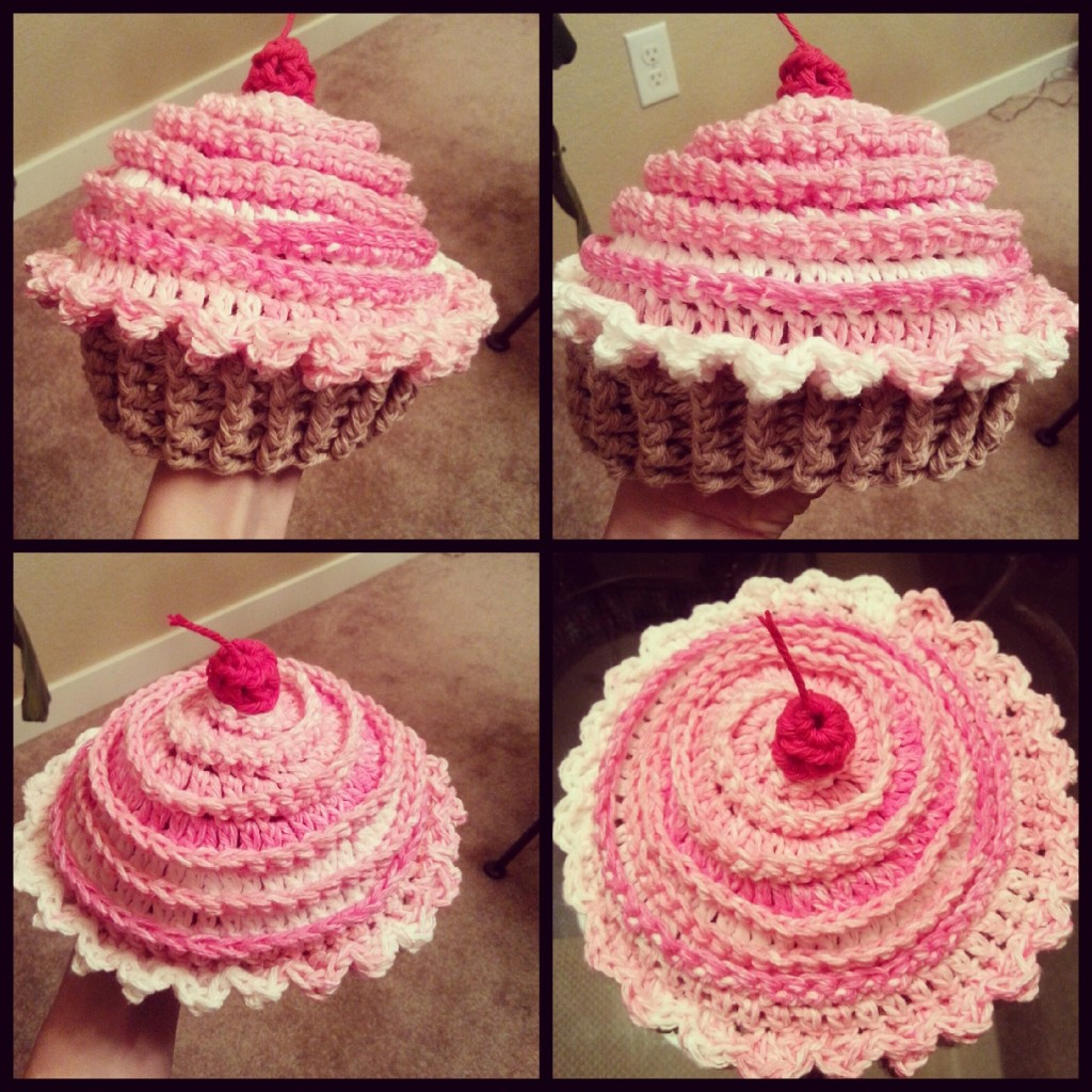A creative crocheted cupcake hat bankloansurffo Images